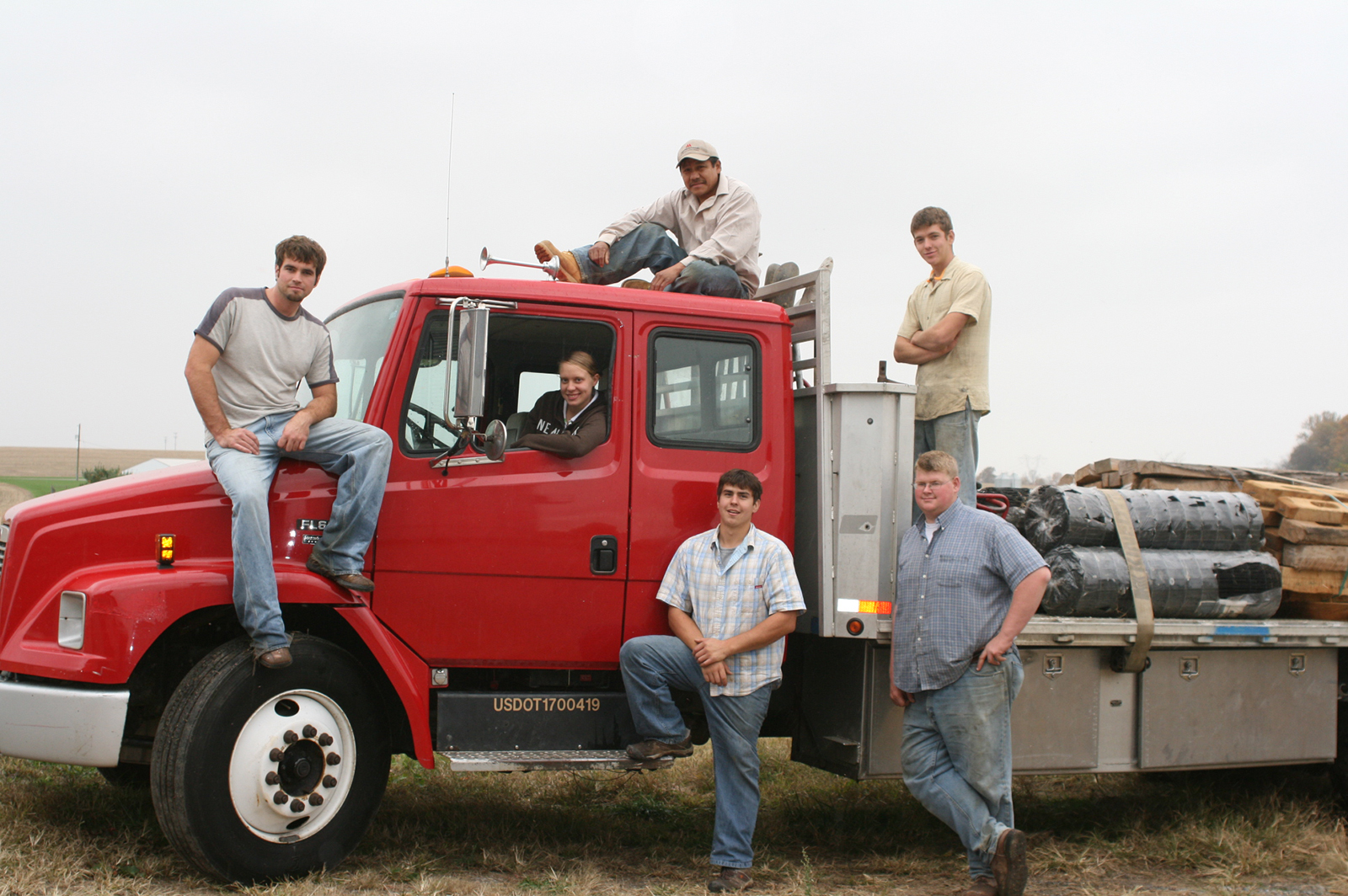 Integrous team at red truck in 2009