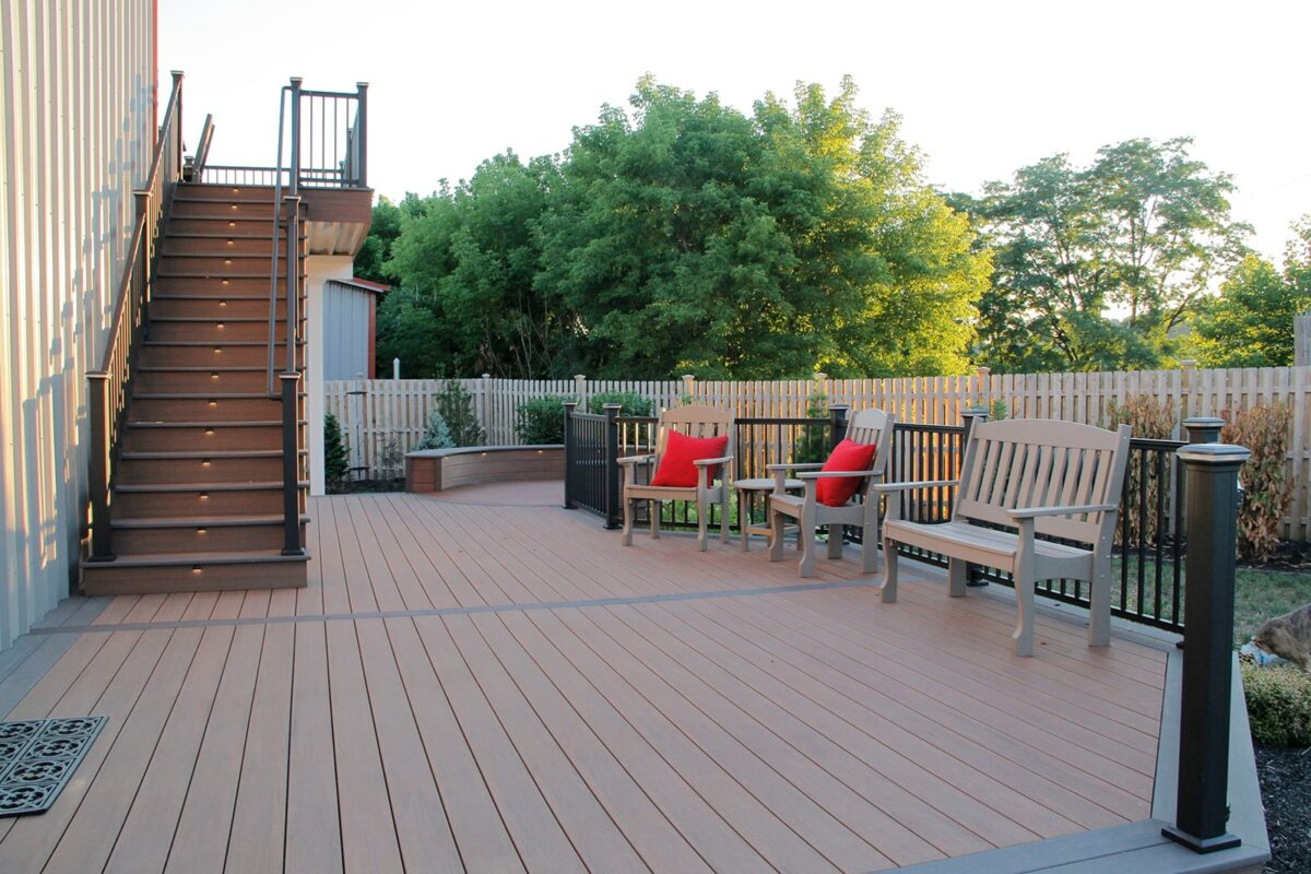 deck at the Integrous showroom in gap pa