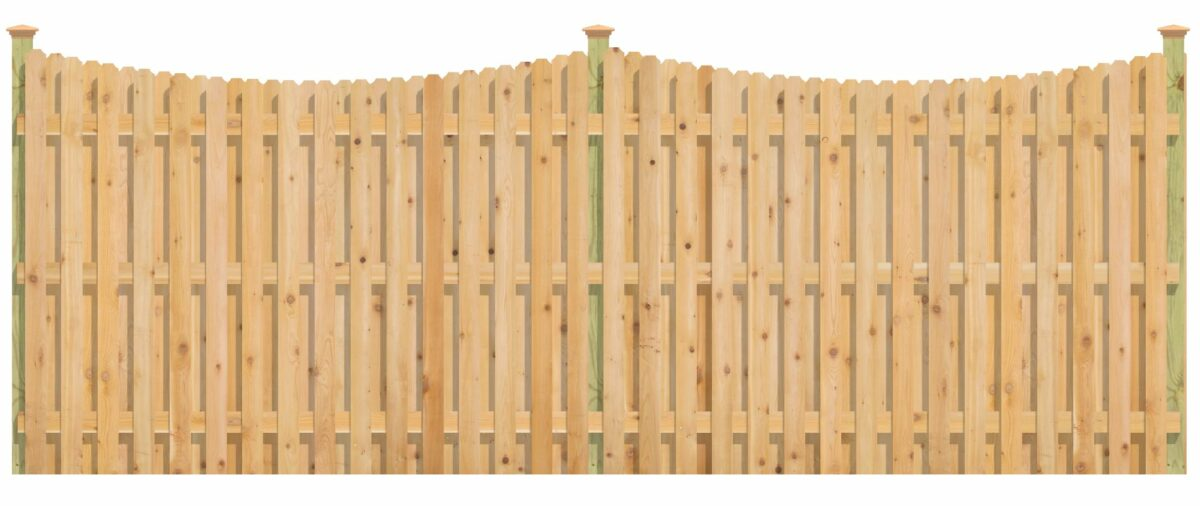 Concave shadowbox fence