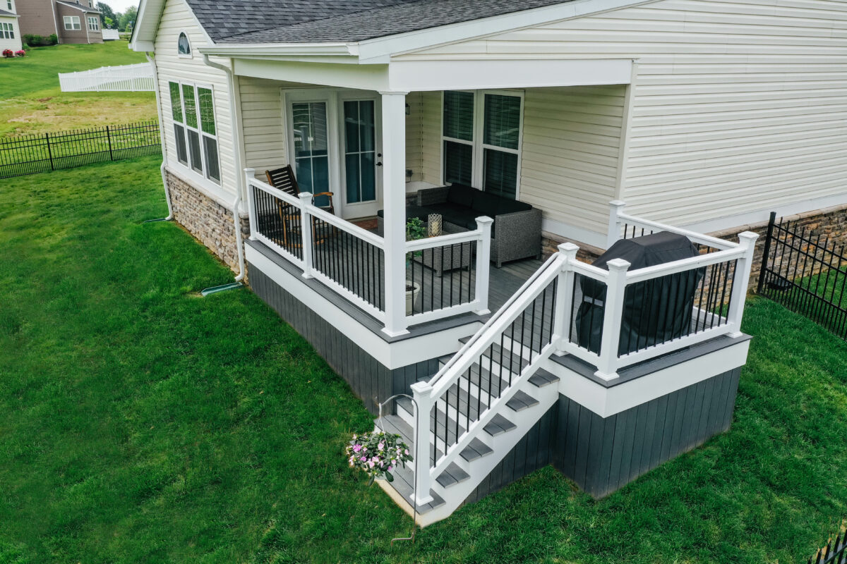 TimberTech Deck with Vinyl railing