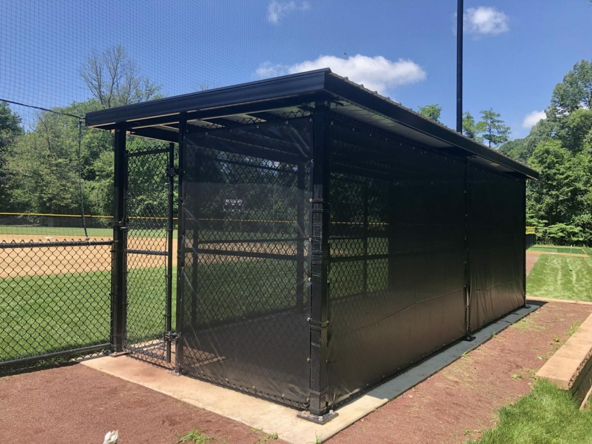 Ball field dugout