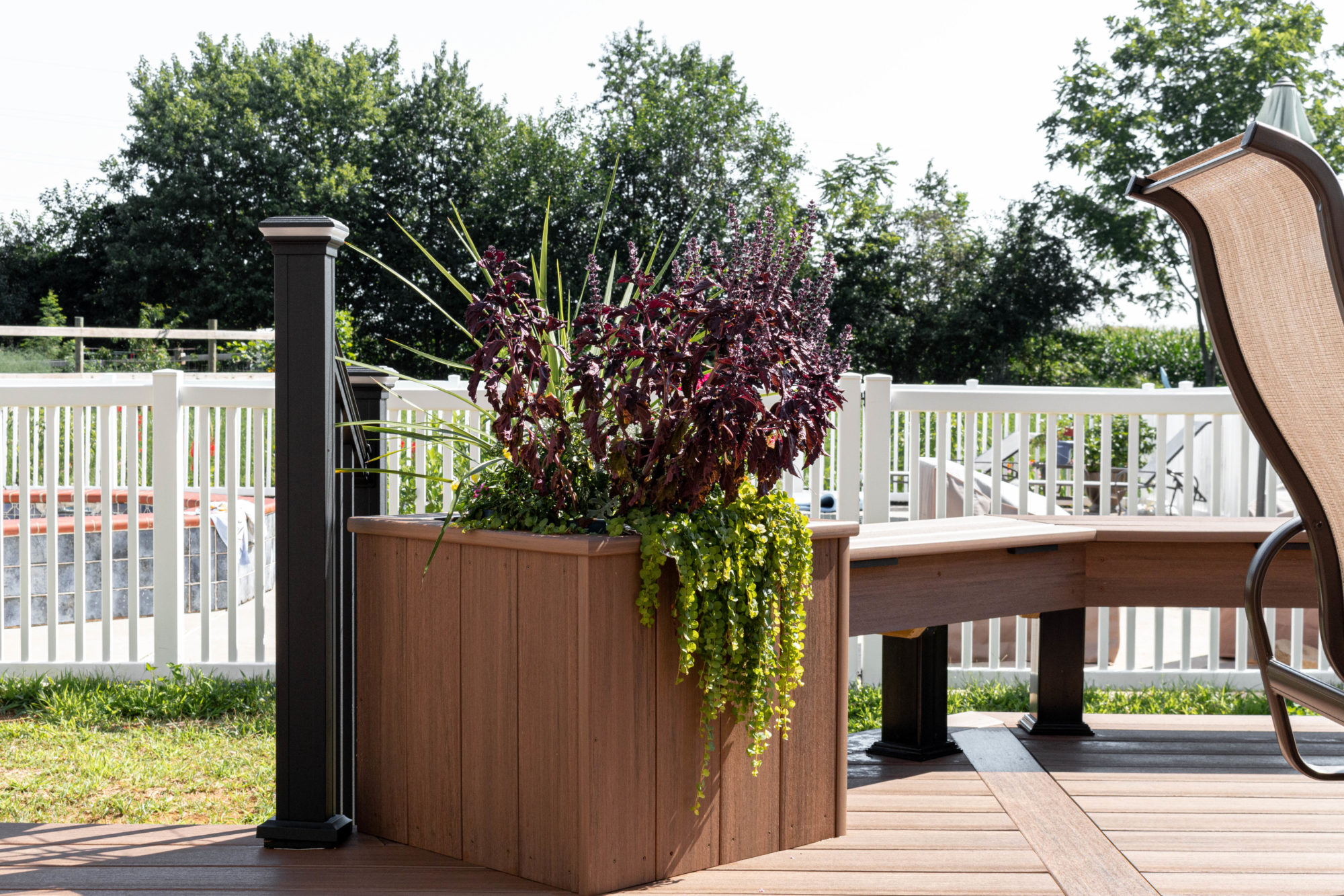 Deck with Flower box