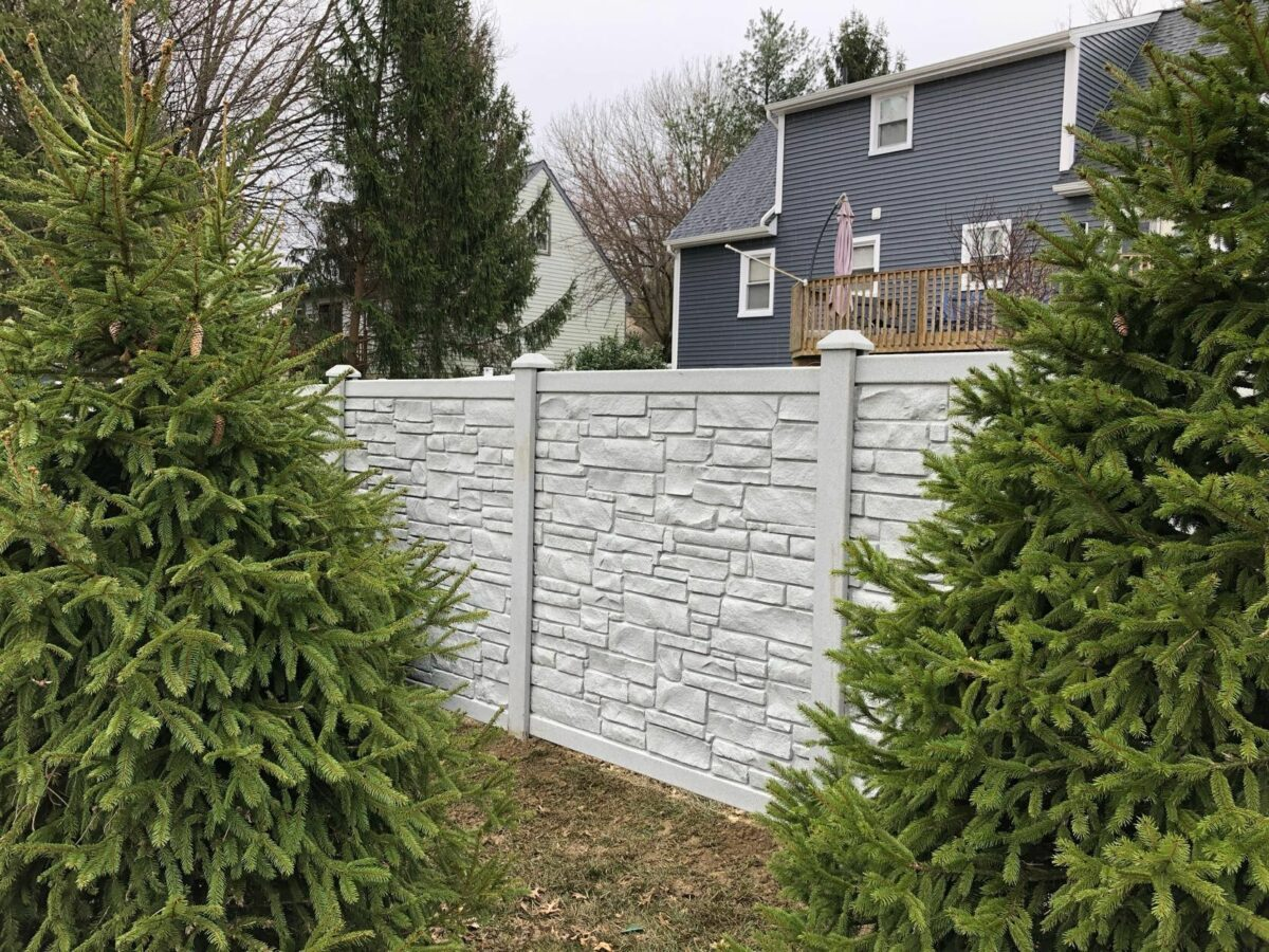 Simtek eco stone privacy fence