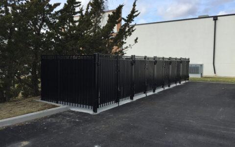 black steel security fence for trash enclosures