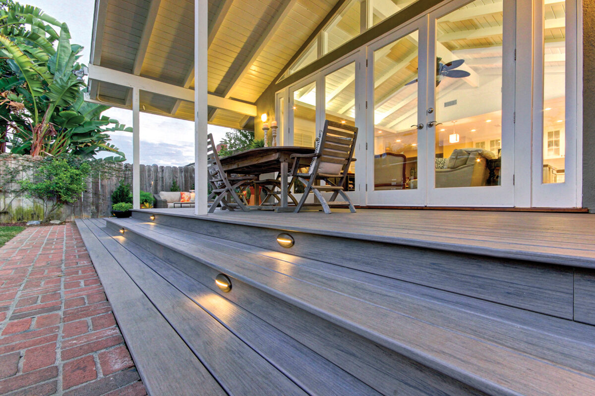 Integrous covered low deck