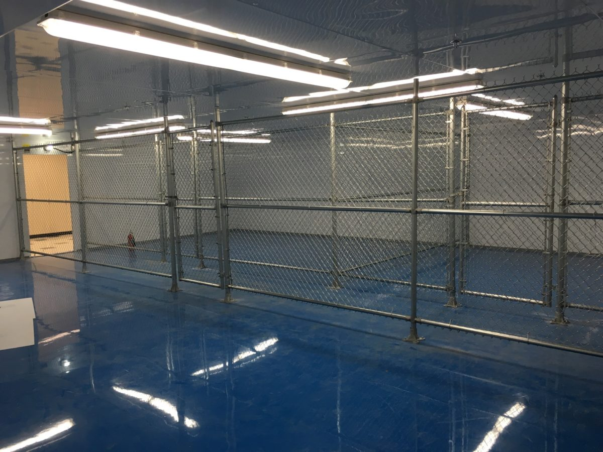 indoor chain link fence