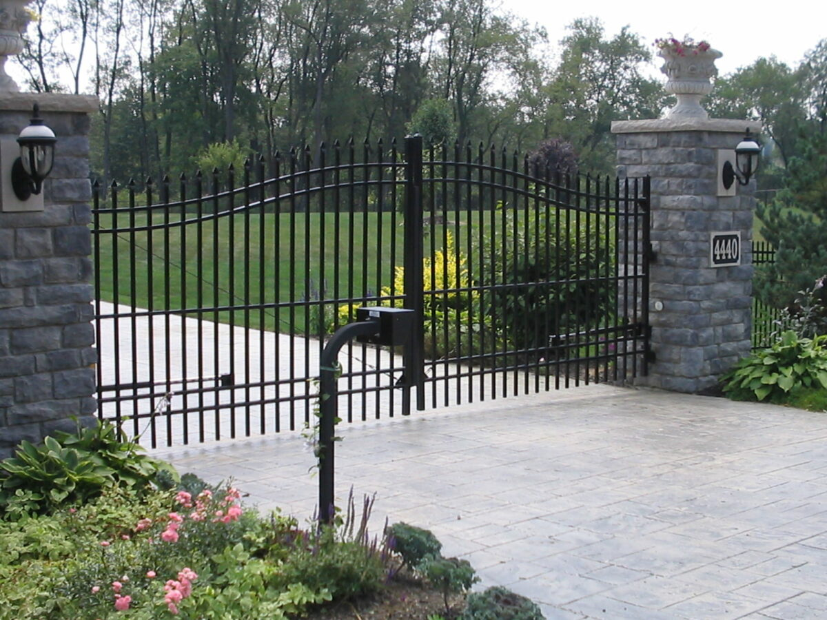 ornamental driveway gate with automated operator