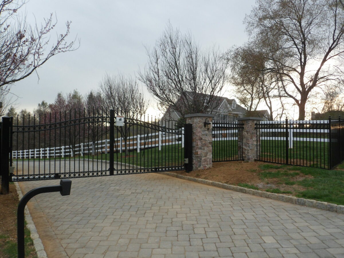 ornamental driveway gate with operator