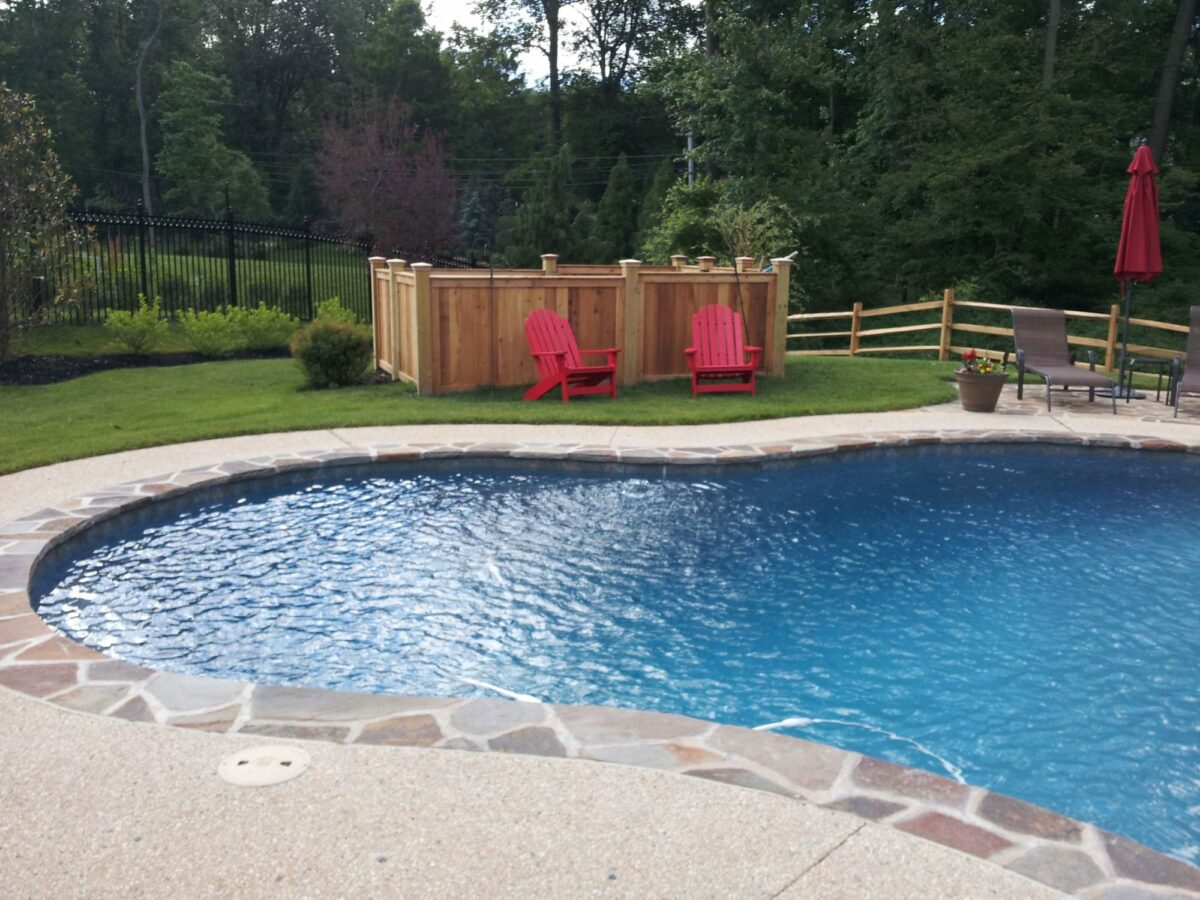 pool equipment enclosure fence