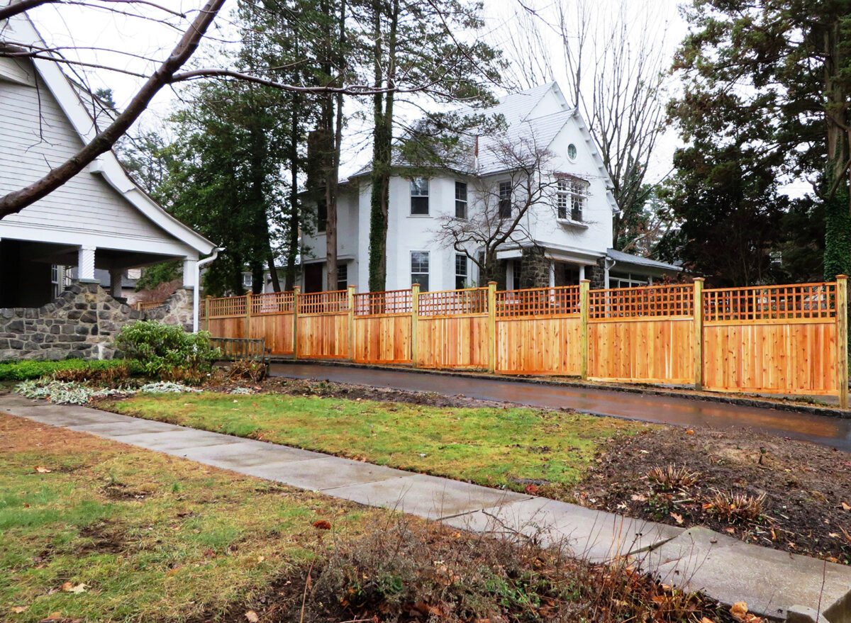 Red cedar privacy fence installed by Integrous