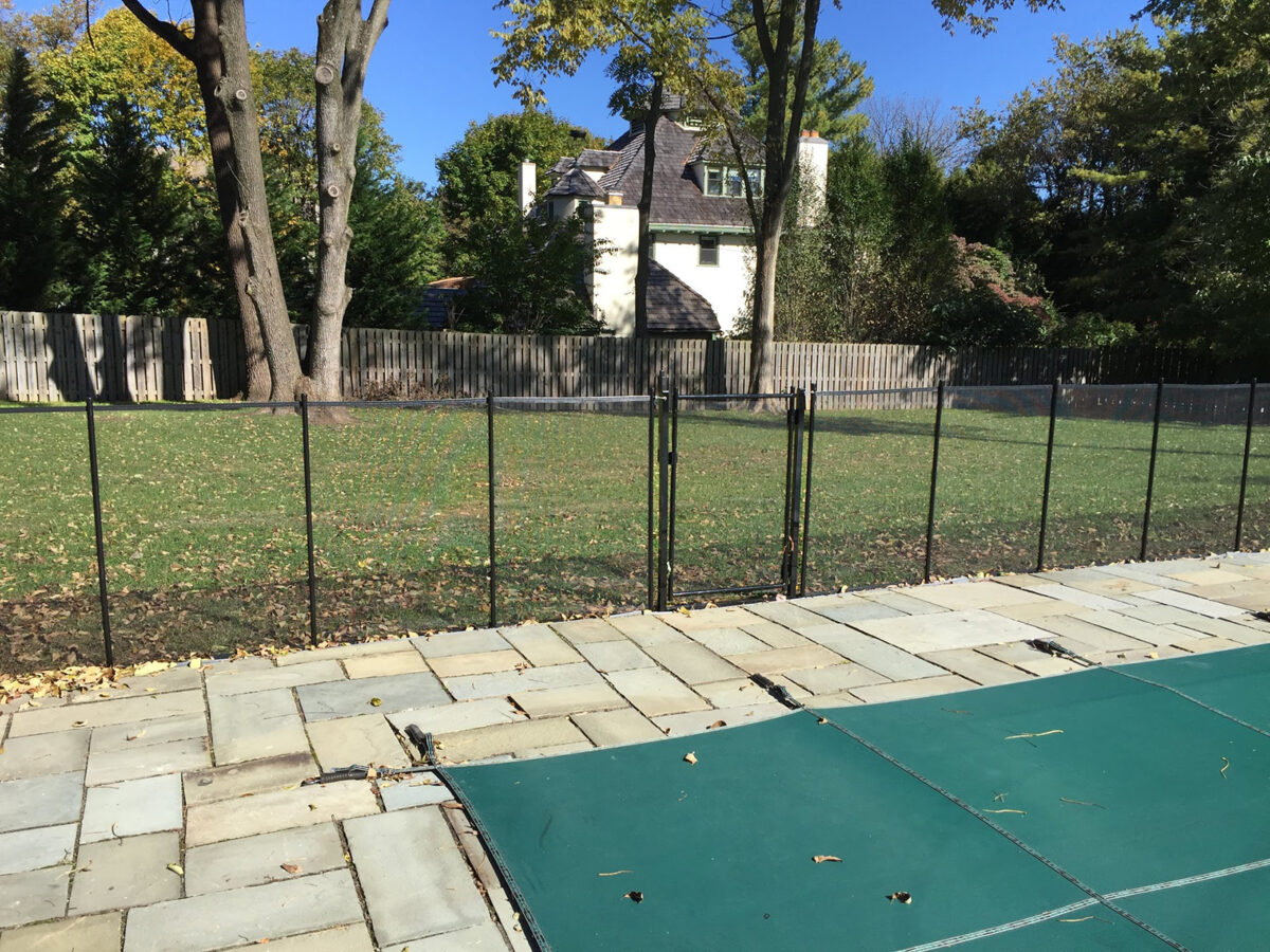 removable fence around pool