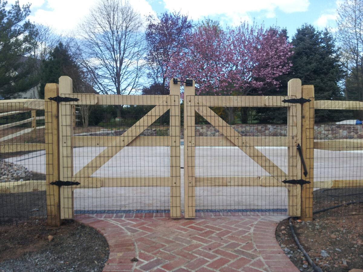 split rail fence with gates