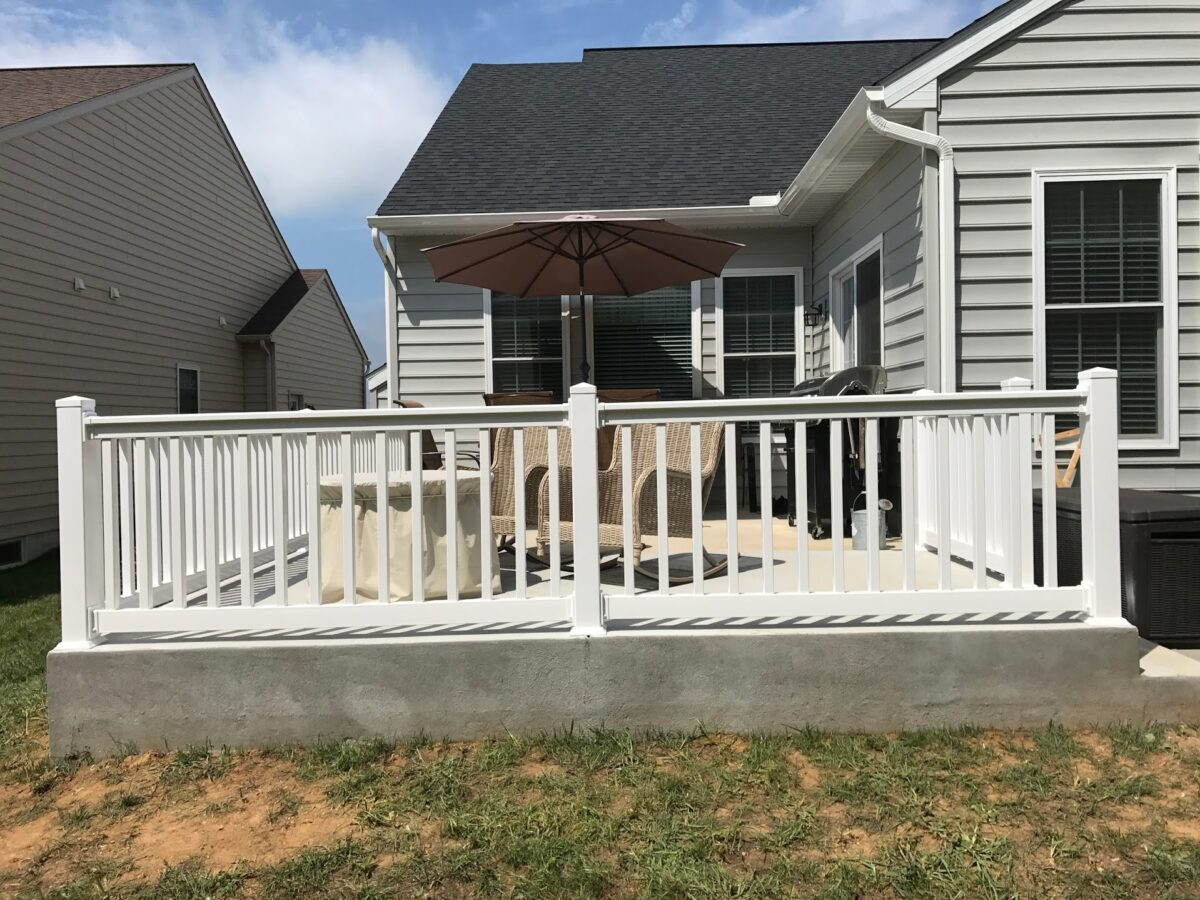 vinyl railing on porch