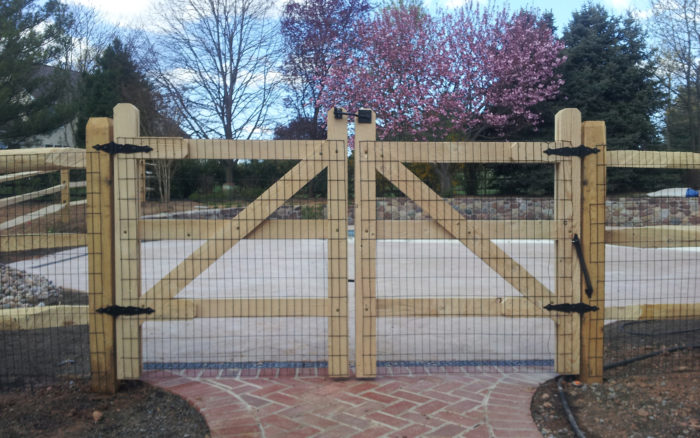 split rail fence with gates
