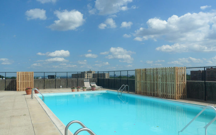 rooftop pool security fence