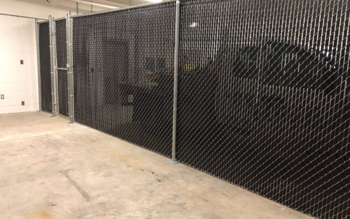 indoor commercial chain link fence