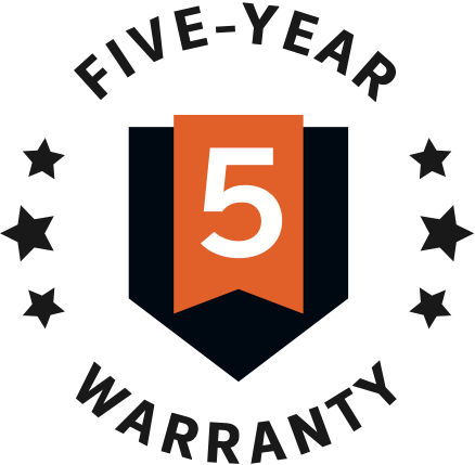 Industry Leading warranty since 2009