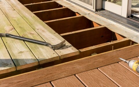 Removing old decking boards